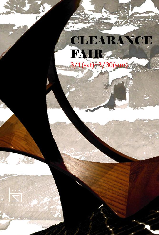 CLEARANCE FAIR 3/1(sat)~3/30(sun)