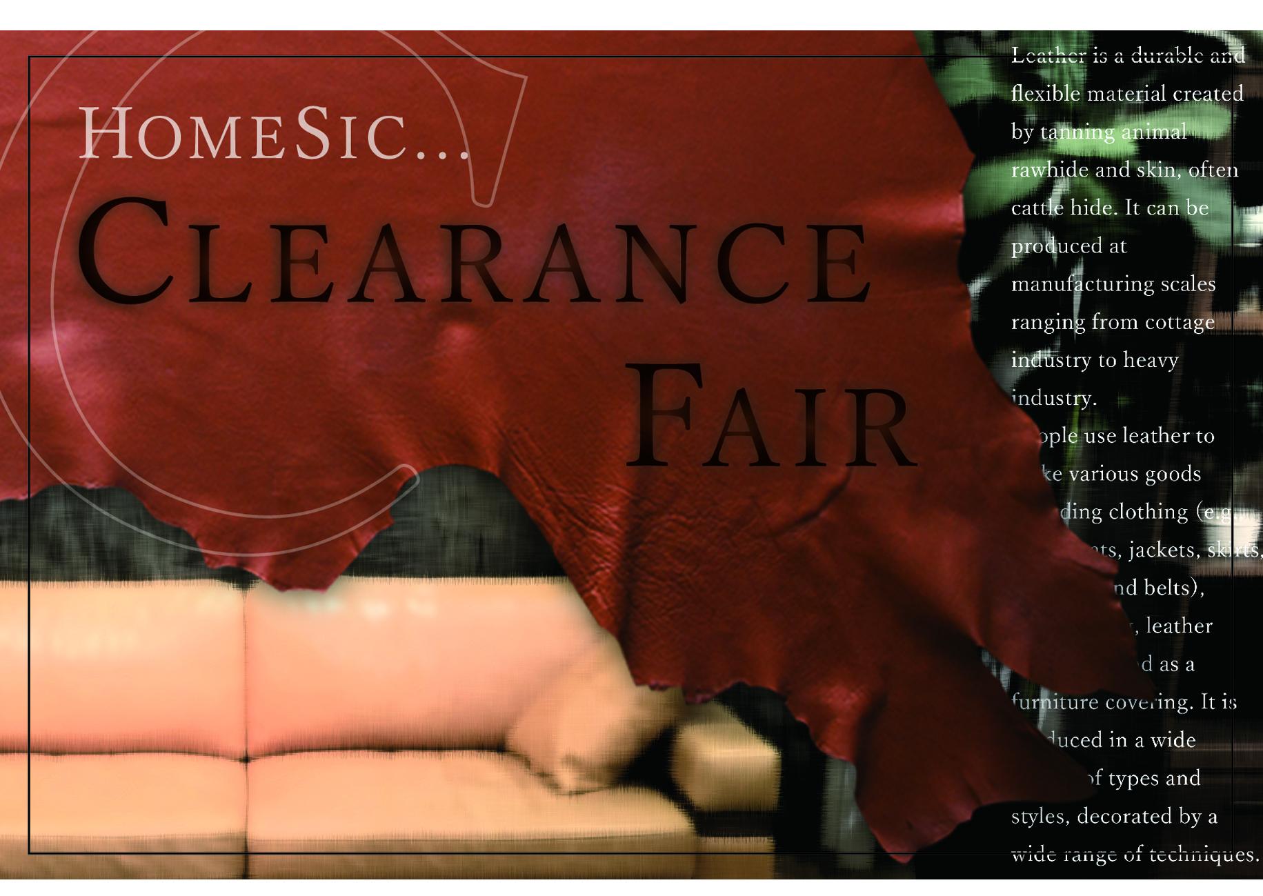 CLEARANCE FAIR !!